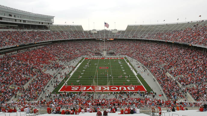 COLUMBUS, OH - APRIL 19:  Overall of Ohio Stadium on the campus of the Ohio State University prior to the start of the Spring Game on April 19, 2008 in Columbus, Ohio.  (Photo by Matt Sullivan/Getty Images)