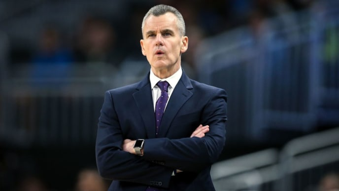 MILWAUKEE, WISCONSIN - APRIL 10:  Head coach Billy Donovan of the Oklahoma City Thunder looks on in the first quarter against the Milwaukee Bucks at the Fiserv Forum on April 10, 2019 in Milwaukee, Wisconsin. NOTE TO USER: User expressly acknowledges and agrees that, by downloading and or using this photograph, User is consenting to the terms and conditions of the Getty Images License Agreement. (Photo by Dylan Buell/Getty Images)