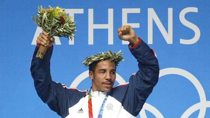 ATHENS, GREECE - AUGUST 29:    Boxen: Olympische Spiele Athen 2004, Athen; Finale / Halbschwergewicht (-81kg); Andre WARD / USA - Gold 29.08.04.  (Photo by Friedemann Vogel/Bongarts/Getty Images)