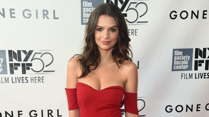 "NEW YORK, NY - SEPTEMBER 26:  Model Emily Ratajkowski attends the Opening Night Gala Presentation and World Premiere of ""Gone Girl"" during the 52nd New York Film Festival at Alice Tully Hall on September 26, 2014 in New York City.  (Photo by Jamie McCarthy/Getty Images)"