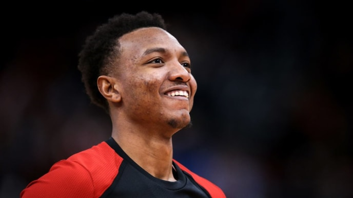 CHICAGO, ILLINOIS - JANUARY 02:  Wendell Carter Jr. #34 of the Chicago Bulls looks on during halftime against the Orlando Magic at the United Center on January 02, 2019 in Chicago, Illinois. NOTE TO USER: User expressly acknowledges and agrees that, by downloading and or using this photograph, User is consenting to the terms and conditions of the Getty Images License Agreement. (Photo by Dylan Buell/Getty Images)