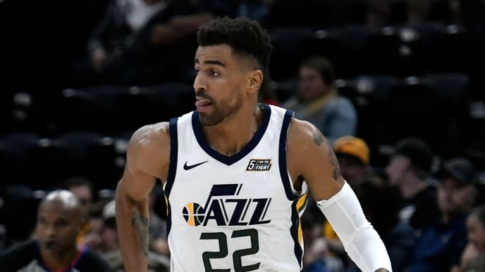 SALT LAKE CITY, UT - SEPTEMBER 29 Thabo Sefolosha #22 of the Utah Jazz runs up court in a preseason game against the Perth Wildcats at Vivint Smart Home Arena on September 29, 2018 in Salt Lake City, Utah.  NOTE TO USER: User expressly acknowledges and agrees that, by downloading and or using this photograph, User is consenting to the terms and conditions of the Getty Images License Agreement. (Photo by Gene Sweeney Jr./Getty Images)