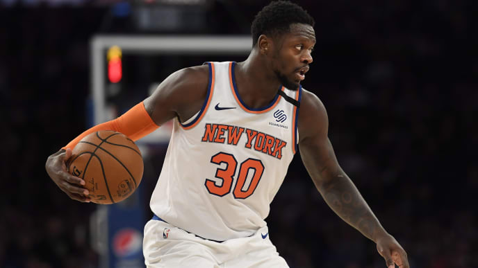 Knicks forward Julius Randle faces off against his former team in the Los Angeles Lakers tonight.