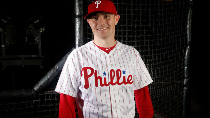 CLEARWATER, FL - FEBRUARY 20:  Craig Driver #81 of the Philadelphia Phillies poses for a portrait on February 20, 2018 at Spectrum Field in Clearwater, Florida. (Photo by Brian Blanco/Getty Images)