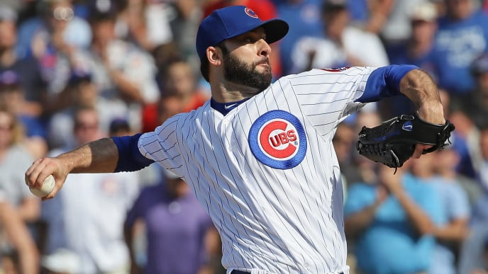 CHICAGO, IL - JUNE 07:  Brandon Morrow #15 of the Chicago Cubs pitches for a save in the 9th inning against the Philadelphia Phillies at Wrigley Field on June 7, 2018 in Chicago, Illinois. The Cubs defeated the Phillies 4-3.  (Photo by Jonathan Daniel/Getty Images)