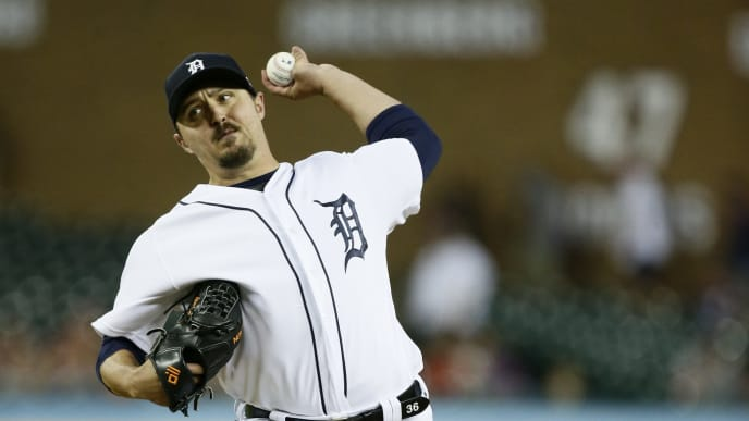 DETROIT, MI - JULY 23:  Blaine Hardy #36 of the Detroit Tigers pitches against the Philadelphia Phillies at Comerica Park on July 23, 2019 in Detroit, Michigan. (Photo by Duane Burleson/Getty Images)