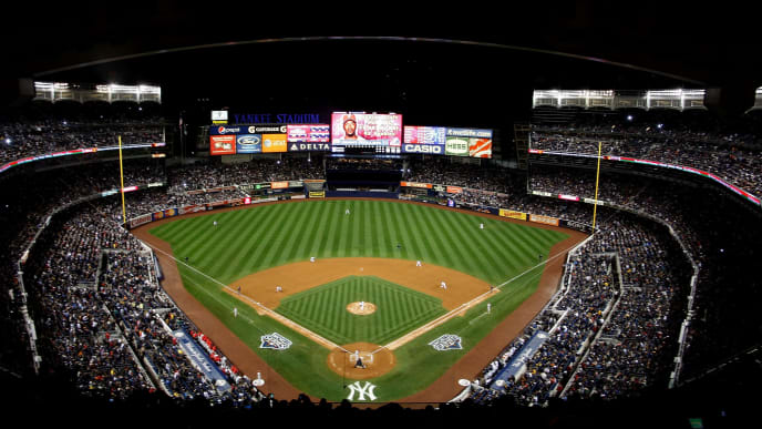 NEW YORK - OCTOBER 28:  A general view of the Philadelphia Phillies batting against the New York Yankees in Game One of the 2009 MLB World Series at Yankee Stadium on October 28, 2009 in the Bronx borough of New York City.  (Photo by Jared Wickerham/Getty Images)