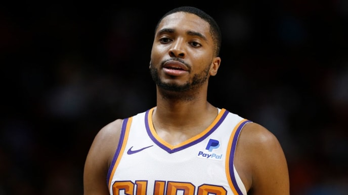 MIAMI, FLORIDA - FEBRUARY 25:  Mikal Bridges #25 of the Phoenix Suns in action against the Miami Heat during the first half at American Airlines Arena on February 25, 2019 in Miami, Florida. NOTE TO USER: User expressly acknowledges and agrees that, by downloading and or using this photograph, User is consenting to the terms and conditions of the Getty Images License Agreement. (Photo by Michael Reaves/Getty Images)