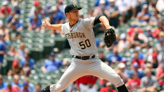 ARLINGTON, TEXAS - MAY 01: Jameson Taillon #50 of the Pittsburgh Pirates delivers a pitch in the first inning against the Texas Rangers at Globe Life Park in Arlington on May 01, 2019 in Arlington, Texas. (Photo by Richard Rodriguez/Getty Images)