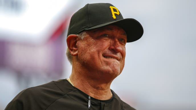 ATLANTA, GA - JUNE 11: Manager Clint Hurdle of the Pittsburgh Pirates watches on prior to the first inning of an MLB game against the Atlanta Braves at SunTrust Park on June 11, 2019 in Atlanta, Georgia. (Photo by Todd Kirkland/Getty Images)
