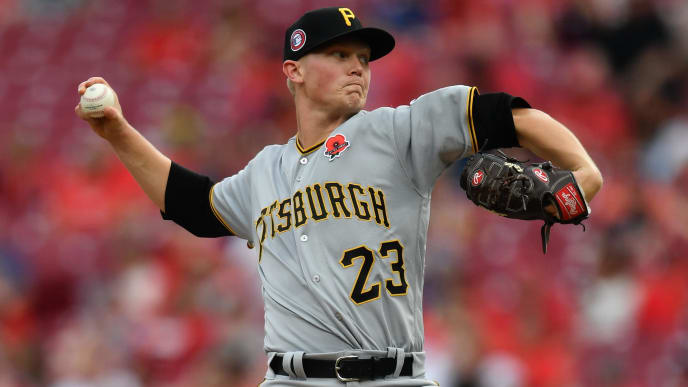 CINCINNATI, OH - MAY 27:  Mitch Keller #23 of the Pittsburgh Pirates pitches in the second inning against the Cincinnati Reds at Great American Ball Park on May 27, 2019 in Cincinnati, Ohio.  (Photo by Jamie Sabau/Getty Images)
