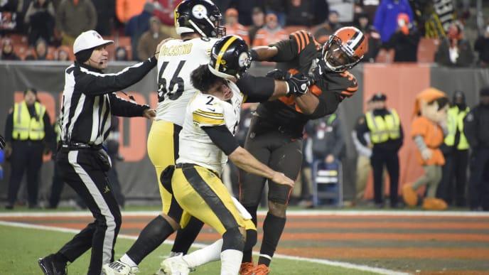 Batalla campal en encuentro entre Browns y Steelers
