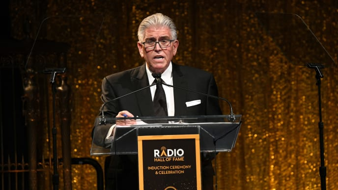 NEW YORK, NEW YORK - NOVEMBER 08: Mike Francesa takes the stage during the Radio Hall of Fame Class of 2019 Induction Ceremony at Gotham Hall on November 08, 2019 in New York City. (Photo by Michael Kovac/Getty Images for Radio Hall of Fame)