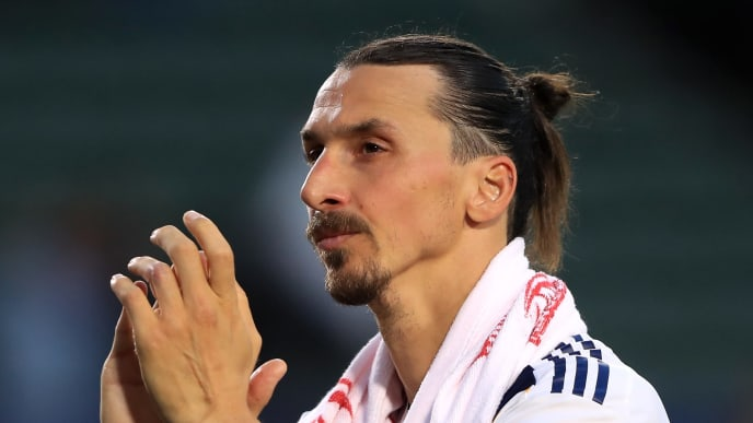 CARSON, CALIFORNIA - APRIL 28:  Zlatan Ibrahimovic #9 of Los Angeles Galaxy looks on as he leaves the field after a game against the Real Salt Lake at Dignity Health Sports Park on April 28, 2019 in Carson, California. Los Angeles Galaxy defeated Real Salt Lake 2-1.  (Photo by Sean M. Haffey/Getty Images)