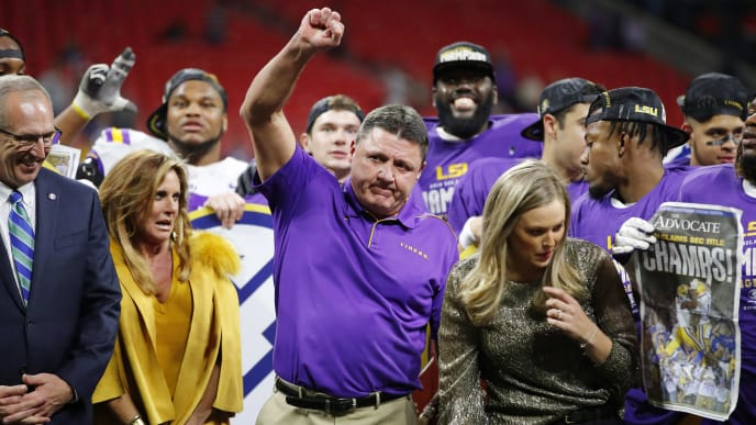 Ed Orgeron Wins College Football Coach Of The Year After