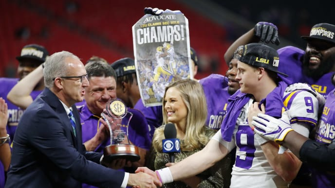 The LSU Tigers captured the SEC Championship, helping them earn the No. 1 spot in the CFP rankings.
