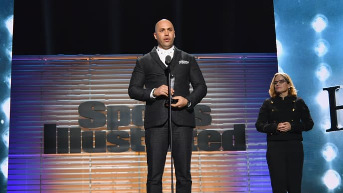 NEW YORK, NY - DECEMBER 05:  Hope Award Recipient World Series Champion Carlos Beltran attends SPORTS ILLUSTRATED 2017 Sportsperson of the Year Show on December 5, 2017 at Barclays Center in New York City.  (Photo by Slaven Vlasic/Getty Images for Sports Illustrated)