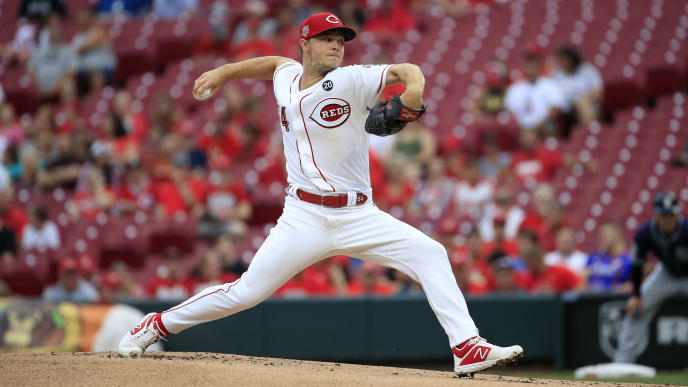 CINCINNATI, OHIO - AUGUST 20:   Sonny Gray #54 of the Cincinnati Reds throws a pitch against the San Diego Padres at Great American Ball Park on August 20, 2019 in Cincinnati, Ohio. (Photo by Andy Lyons/Getty Images)