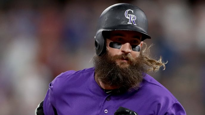 DENVER, COLORADO - JUNE 13: Charlie Blackmon #19 of the Colorado Rockies circles the bases after hitting a solo home run in the sixth inning against the San Diego Padres at Coors Field on June 13, 2019 in Denver, Colorado. (Photo by Matthew Stockman/Getty Images)