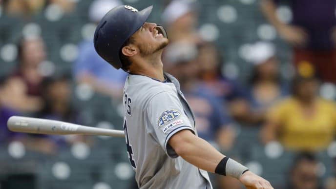 A Myers no le fue bien con el bate en la temporada 2019