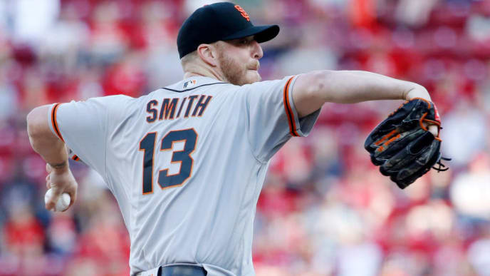 CINCINNATI, OH - MAY 05: Will Smith #13 of the San Francisco Giants pitches in the ninth inning against the Cincinnati Reds at Great American Ball Park on May 5, 2019 in Cincinnati, Ohio. The Giants won 6-5. (Photo by Joe Robbins/Getty Images)