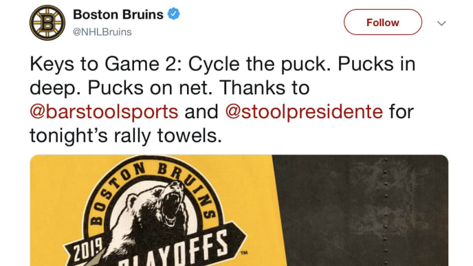 big sale a739f 52bc9 Boston Bruins' Official Relationship With Barstool Sports is ...