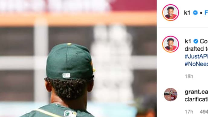 brand new 29657 9a7ce Kyler Murray Oddly Posts Congratulatory Message to MLB ...