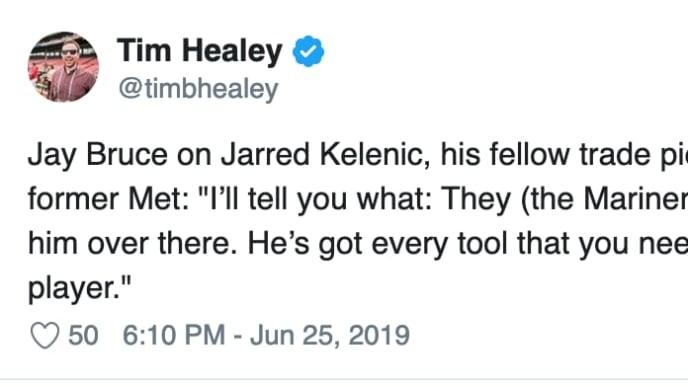 Tim Healey Tweet