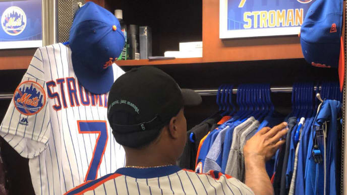 new concept 06cb4 2a965 Marcus Stroman Shows up to Citi Field in Awesome Throwback ...