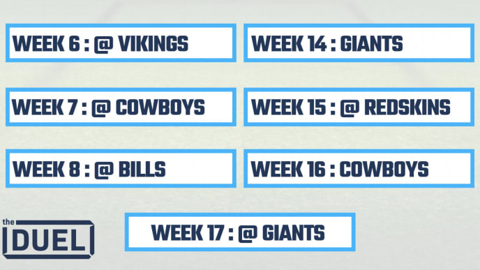 picture about Printable Nfl Schedules referred to as 2019 Printable NFL Schedules for NFC East Groups