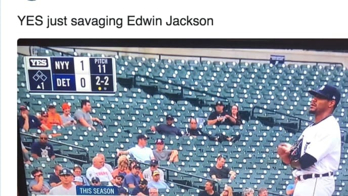 YES Network savages Tigers pitcher Edwin Jackson