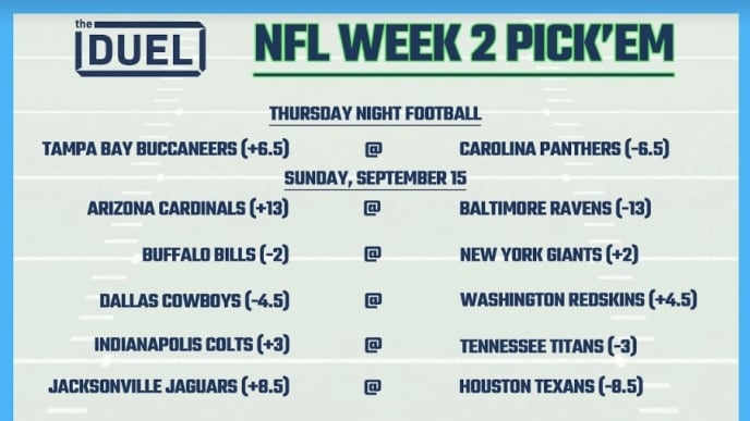 picture regarding Printable Nfl Week 2 Schedule named Printable NFL Weekly Pick out Em Sheets for 7 days 2