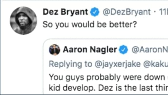 Ex Cowboys Wr Dez Bryant Gets In Huge Twitter Argument With