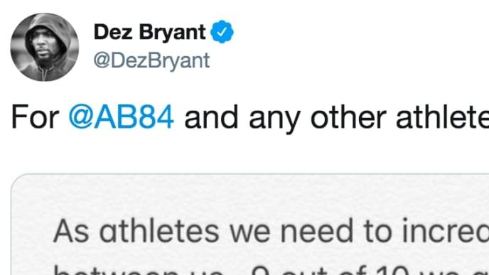 Dez Bryant Tweets Sincere Message To Antonio Brown About