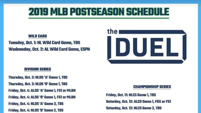 Mlb Playoffs 2019 Printable Schedule