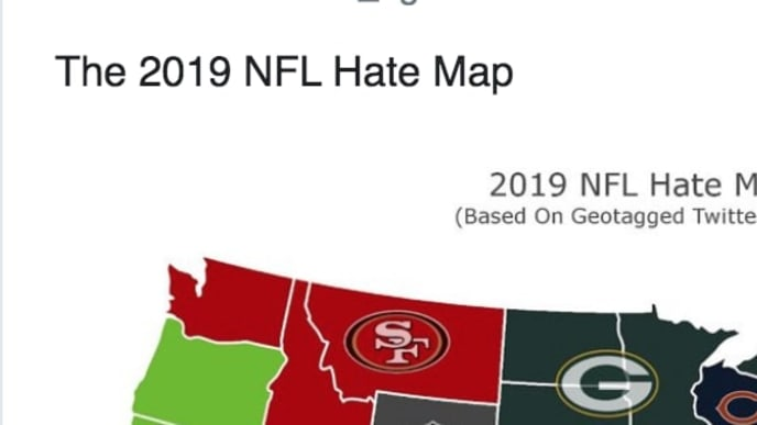 This Map Reveals the Most Hated NFL Team in Every State for 2019