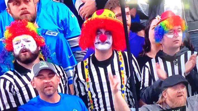 Image result for nfl refs clown