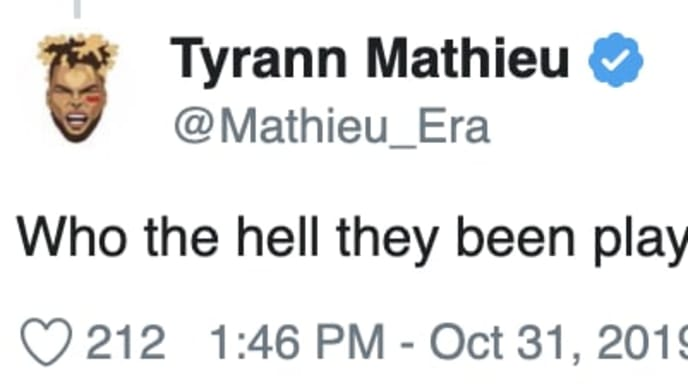 Chiefs safety Tyrann Mathieu calls out 49ers for easy schedule.