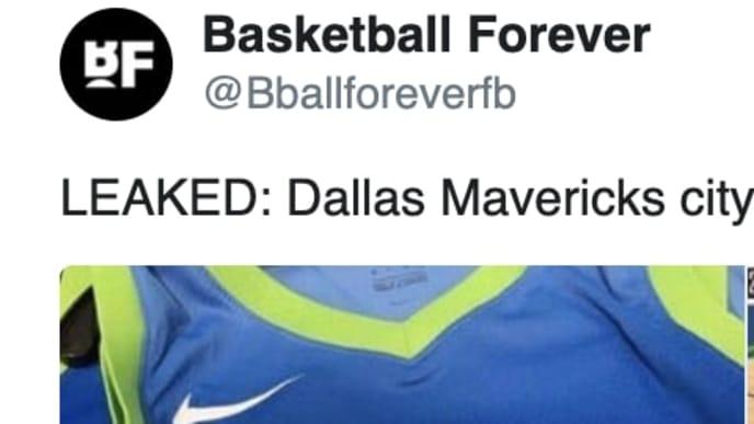 Mavericks City Jerseys Apparently Leak Online And They Re A