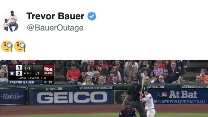 Trevor Bauer tweets out hilarious video amid bombshell Houston Astros sign stealing report.