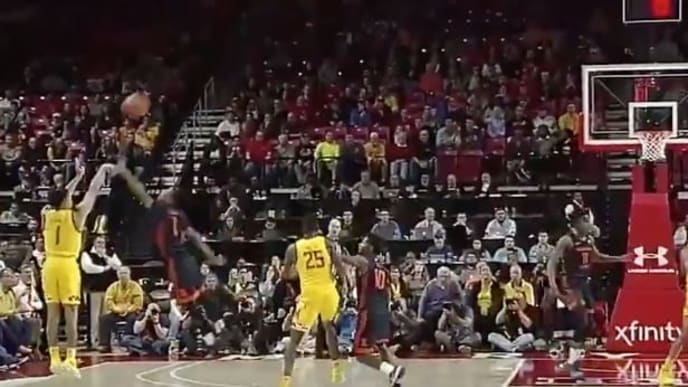Anthony Cowan capped a brilliant Maryland comeback with a deep three to tie the game.