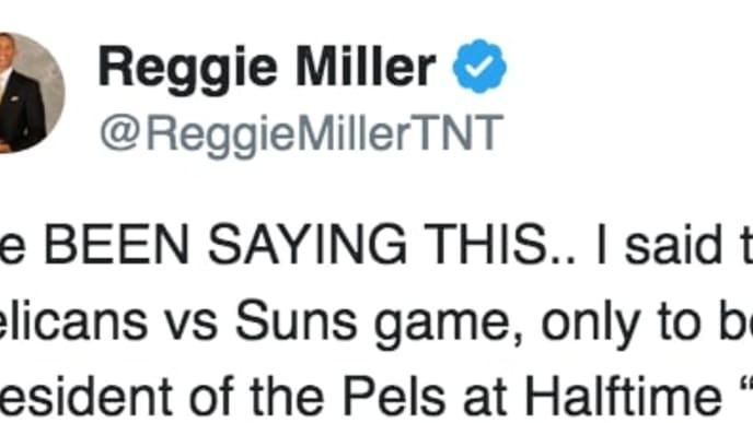 Reggie Miller's Twitter account