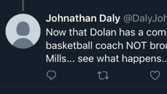 There appears to be a James Dolan burner account on Twitter defending the Knicks owner.