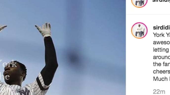 Didi Gregorius said good bye to his fans in New York