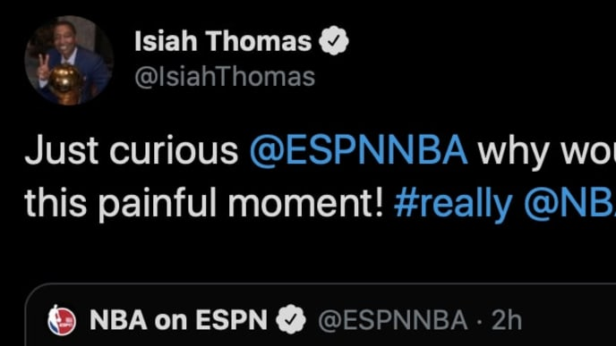 Isiah Thomas did not appreciate ESPN marking the anniversary of this painful 1991 highlight.