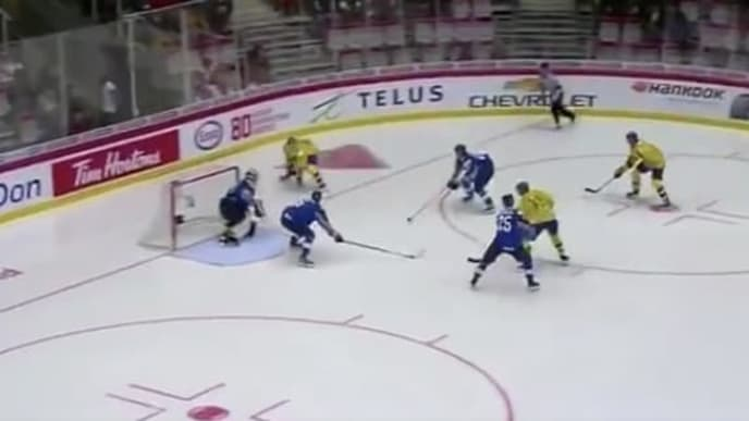 Budding hockey star Nils Hoglander scored a wonder goal for Sweden at the 2020 WJC.