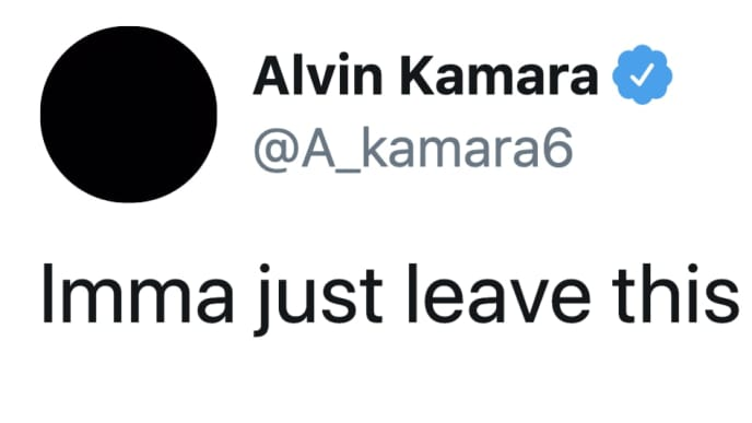 The tweet from New Orleans Saints RB Alvin Kamara