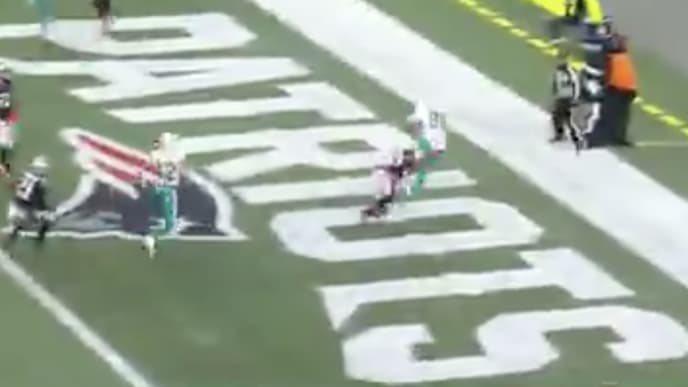 Dolphins TE Mike Gesicki catches a late TD pass from Ryan Fitzpatrick
