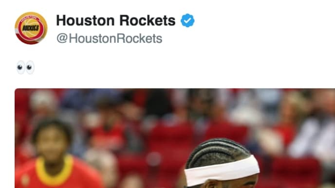 James Harden debuted a new look on Friday for Rockets-Sixers