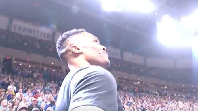 El recibimiento que le diero a Westbrook en ru regreso a Oklahoma City